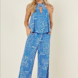 NWT Blue/White Jumpsuit